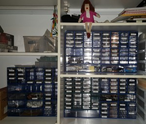 The new parts drawers
